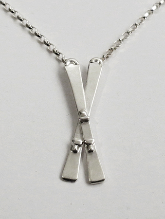 Crossed Skis Pendant